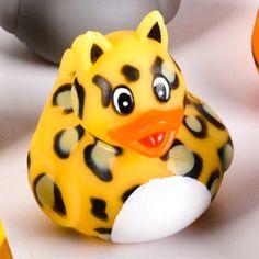 Zoo Animal Cheetah Rubber Ducky