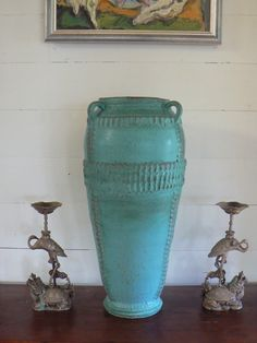 "one of 2 vases commissioned by restaurant marché    20""/50cm    by marielle macville ceramics    http://www.etsy.com/shop/MarielleMacville"