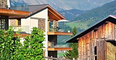 Casa Lumnezia, in the picturesque Swiss mountain village Vignogn, offers the most beautiful view of the Swiss Alps.