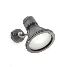 Proyector de diseño para iluminación exterior. Sobrio, funcional, lleno de detalles y muy práctico.