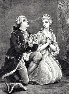 Louis XVI et Marie-Antoinette apprenant la mort de Louis XV