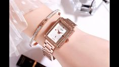 women's elegant watch Cool Watches For Women, Make Time, How To Make, Elegant Watches, Diamond Studs, Watch Video, Stuff To Buy, Style, Wristwatches