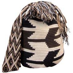 Large Mochila Wayuu Bag | Handmade and Fair Trade Wayuu Mochila Bags LOMBIA & CO. | www.LombiaAndCo.com Tapestry Bag, Fair Trade, Handmade, Bags, Fashion, Stitching, Backpack, Purses, Crocheting