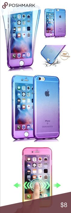 iPhone 7 plus case Product Description:   Blue and purple!!! Compatible Model: Apple iPhone 7 Plus (2016)  Made of TPU which is safe and protective, light weight which fits your phone perfectly  Humanized design makes our case more useful, you can access all buttons with the case, and the size is comfortable for you to catch.  Camera cutout, charger,and microphone open for ease of access Accessories Phone Cases