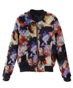 Colorful Rendering Cotton Coat