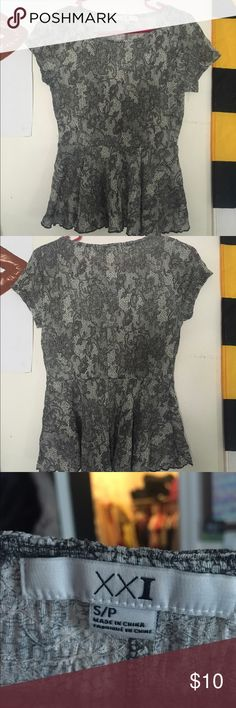 Lace blouse Only worn a few times. Flattering fit not too tight :) good condition Forever 21 Tops Blouses