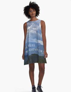 Beautiful Paths ~ Muted Echo ~ Blue A Line Dress ~ Summer Dress ~ Nature Lover Gift ~ Wearable Art ~ Blue Sun Dress ~ Nature Photo Art Dress ~ Women's Easy Dress XS S M L XL 2XL by #NancyJsLifestyle