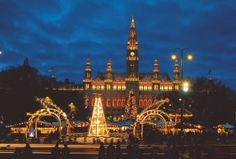 Beautiful Christmas lights in Vienna