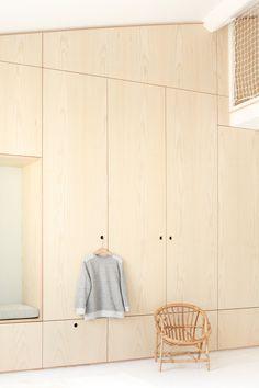 APARTMENT LEPIC by Heju Bedroom Wardrobe, Wardrobe Closet, Built In Wardrobe, Community Places, Attic Bedroom Designs, Plywood Interior, Plafond Design, Ideas Prácticas, Loft Interiors