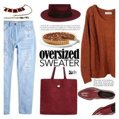 """Oversized Sweater"" by mada-malureanu ❤ liked on Polyvore featuring MANGO, Anja, Alexander Wang, Gucci, Sheinside, sweaterweather and shein"