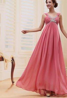 sleeveless chiffon formal dress