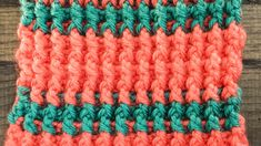 Crochet a Left-Handed Front Post and Back Post Double Stitch | AllFreeCrochet.com