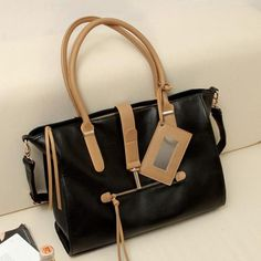 Black And Brown Faux Leather Mirror Pendant Decor Bag Leather Crossbody Bag, Pu Leather, Buy Bags, Women's Bags, Hand Bags 2017, Fashion 2017, Womens Fashion, Black And Brown, Shoulder Bag