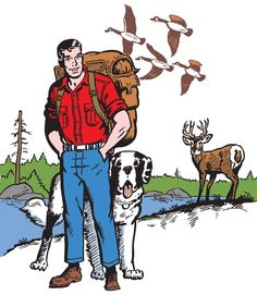 "For more than 50 years, the comic strip ""Mark Trail"" has been teaching people to preserve our natural resources for future generations. Iconic Characters, Comic Book Characters, Comic Books, Vintage Cartoon, Vintage Humor, Mark Trail Comic, Newspaper Cartoons, Comics Kingdom, Time Cartoon"