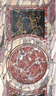 hand painted vilolet breccia, portor, rouge royal http://mjpfaux.com/painted-faux-marble/