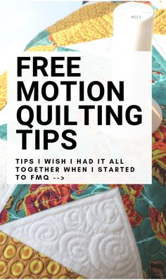 Free Motion Quilting definitely takes practice to be good at. These free motion quilting tips really helped with my first quilting projects. Quilting For Beginners, Sewing Projects For Beginners, Quilting Tips, Quilting Tutorials, Quilting Projects, Sewing Tutorials, Longarm Quilting, Hand Quilting, Craft Projects