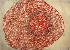 Eccentric Growth by Louise Bourgeois, c. 1963-67, red ink on paper.