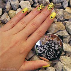 Butterfly nails #nailart #yellownails #bornpretty #bornprettystore #avon #gelfinish #limoncello #stamping #nails @bornprettystore  @bornprettynails