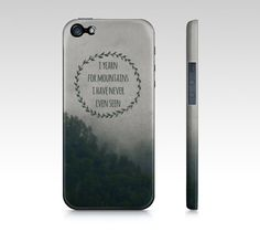 Mountain Yearning iPhone Case OR Samsung Galaxy Case, Woodland Phone Case, Mountains Photo Cover for iPhone 4/4S/5 OR Samsung Galaxy 3/4 on Etsy, $40.00