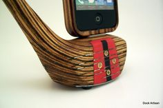 Vintage Wooden Lefty Golf Club iPhone Dock by dockartisan on Etsy, $150.00