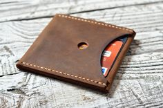 Wallet, Leather Wallet, Minimalist Wallet, Slim Wallet: Credit Card Wallet, Business Card Case, Gift for him, Gift for her by RedKlen on Etsy