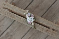groom's boutonniere by EvaFleurs on Etsy Groom Boutonniere, Summer Hairstyles, Wedding Hairstyles, French Clip, Hair Comb Wedding, Flowers In Hair, Hair Clips, Unique Jewelry