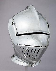 Armet Date: ca. 1510–15 Culture: possibly British or Flemish Medium: Steel Dimensions: H. 11 3/4 in. (29.8 cm); W. 8 1/4 in. (21 cm); D. 12 7/8 in. (32.7 cm); Wt. 9 lb. 9 oz. (4350 g)