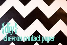 diy chevron contact paper. for my classroom to cover the ugly filing cabinets!!! YESSSS!!!