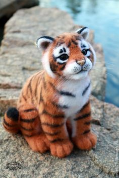 tiger toshka (felted toy, toy from felt) – shop and order online on Livemaster | Tiger Toshka - felted toy (a toy made of felt),…