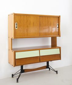 Anonymous; Italian Cabinets, 1950s.