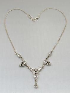 Delicate White Topaz Necklace 2