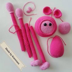 Another pink Mike the Monkey ready to assemble 😄👏 pattern by # amigurumi Crochet For Kids, Monkey, Crochet Earrings, Quilts, Pattern, Pink, Instagram, Ideas, Hand Crafts