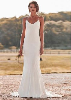 00550aa3514 Magbridal Delicate Four Way Spandex Spaghetti Straps Neckline Mermaid Wedding  Dresses