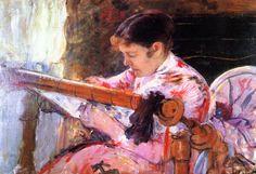 """""""Lidya al telaio"""", 1881 - Mary Cassatt."""