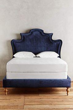 Slub Velvet Ainsworth Bed - http://anthropologie.com