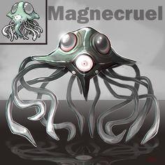 Pokemon Fusion: Magnecruel by Adelein13.deviantart.com on @deviantART