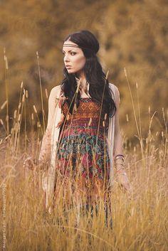 bohemian girl in summer by Andreas Gradin