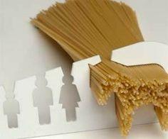 Measuring enough spaghetti to feed a horse hehehehe