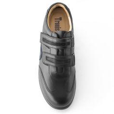 Belcro. Zapatos con alzas. Exterior de piel flor de primera calidad. Interior totalmente forrado en piel. Suela de goma-látex ultraflexible. Estilo informal deportivo, perfecto para combinar con unos vaqueros/chinos o pantalones cortos.