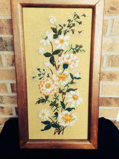 Lovely Vintage Floral Crewel / Embroidery / by Nobleknickknacks