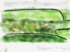 1st iPad drawing attempt - View from Bellcross