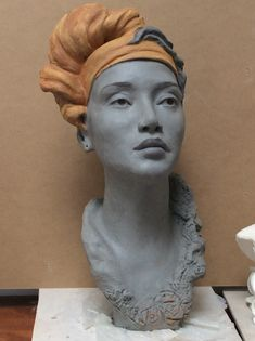 Sculpture Head, Pottery Sculpture, Ceramic Figures, Ceramic Art, Ceramic Sculpture Figurative, Pottery Animals, Art Folder, Small Sculptures, Art Plastique