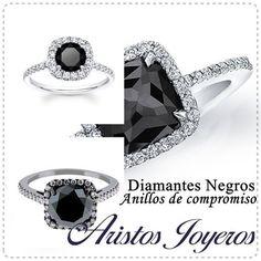 Linea de diamantes negros, especiales para anillos de compromiso!