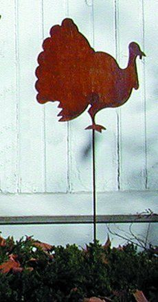 Turkey Rusted Garden Stake by Village Wrought Iron. $18.55. Approx. 35 H This product is not featured in our catalog and only available through our website. Please allow 4 to 6 weeks for delivery.. Save 23% Off!