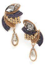 Heydey of Deco Earrings in Grey