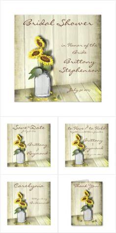 Mason Jar Sunflower Wedding