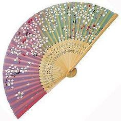 antique asian wall fan -