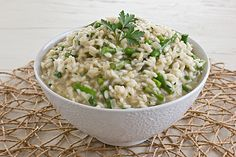 Lemony Asparagus Risotto (Make with my asparagus broth)