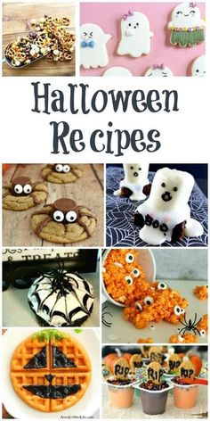 Halloween Recipes - Your kids will love these fun and spooky Halloween Treats. #Halloween #Recipes Spooky Halloween, Diy Halloween Party, Halloween Sweets, Halloween Baking, Halloween Goodies, Halloween Cupcakes, Holidays Halloween, Halloween Crafts, Vintage Halloween