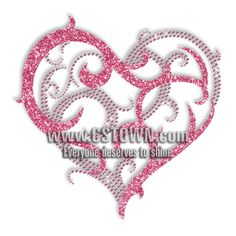 bling counselor shirt designs | ... > Graphics > Heart > Custom Iron on Sweet Heart Rhinestone Design